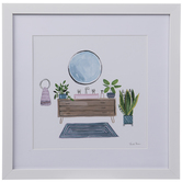 Bathroom Sink Framed Wall Decor