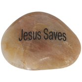 Jesus Saves Garden Stone