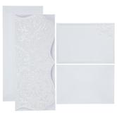 White Pearl Folded Wedding Invitations