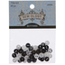 Black & White Mini Polka Dot Buttons - 8mm