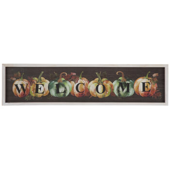 Welcome Pumpkins Wood Wall Decor