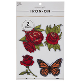 Rose & Butterfly Iron-On Appliques