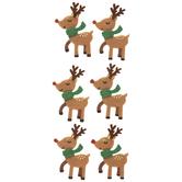 Reindeer Felt 3D Stickers