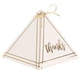 Thanks Pyramid Favor Boxes