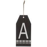 Plaid Tag Letter Wood Wall Decor - A