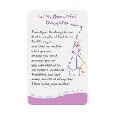 My Beautiful Daughter Wallet Card