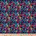 Floral On Navy Cotton Calico Fabric