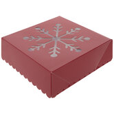 Red Snowflake Treat Boxes