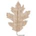 Burlap Oak Leaves