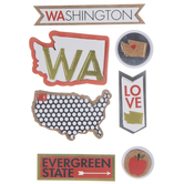 Washington Icons 3D Stickers