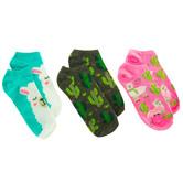 Llama & Cactus Low Cut Socks