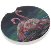 Flamingos Car Coaster