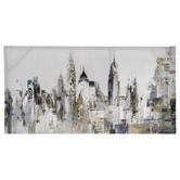Metropolis Foil Canvas Wall Decor
