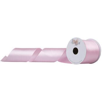 "Light Pink Single-Face Satin Ribbon - 2 1/2"""