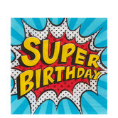 Super Birthday Napkins - Small