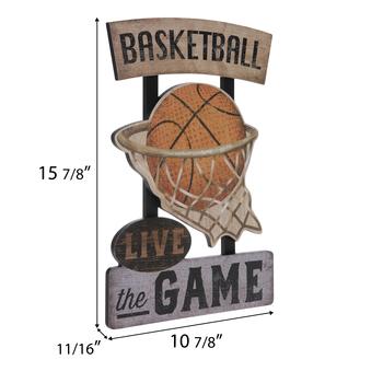 Basketball Live The Game Wood Wall Decor