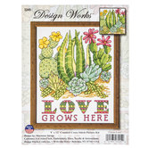 Cactus Love Counted Cross Stitch Kit