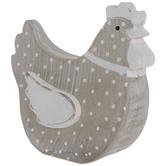 Polka Dot Wood Chicken