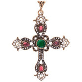 Baroque Cross Pendant