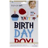 Birthday Boy Iron-On Appliques