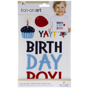 Birthday Boy Iron-On Appliques