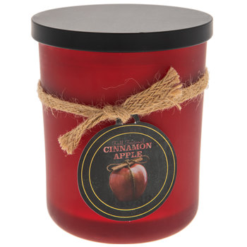Cinnamon Apple Frosted Red Jar Candle