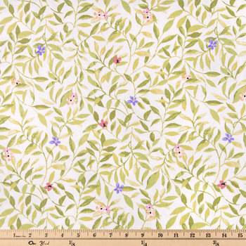 Vine Leaf Floral Duck Cloth Fabric