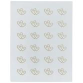 Gold Double Heart Envelope Seals