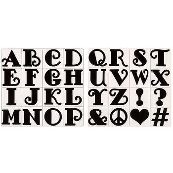 Classic Letter Foam Alphabet Stamps