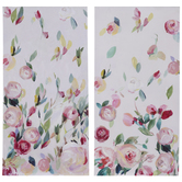 White & Pink Floral Canvas Wall Decor Set