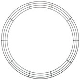 Round Metal Wire Wreath Frame - 20""