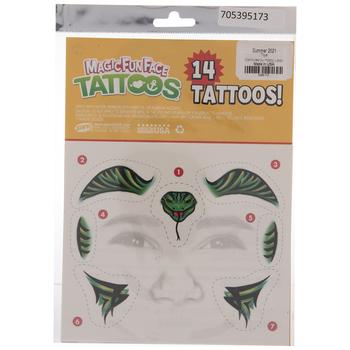 Cobra Temporary Face Tattoos