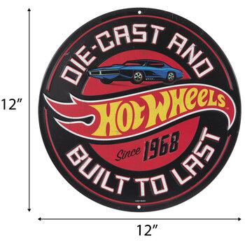 Hot Wheels Metal Sign