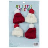Mini Red & White Beanie Ornaments