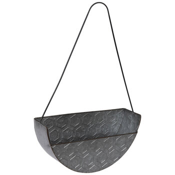 Honeycomb Galvanized Metal Wall Basket
