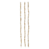 White Dyed Bone Bead Strands