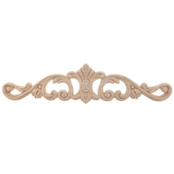 Horizontal Ornate Scroll Wood Applique