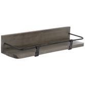 Distressed Gray Wood Wall Shelf