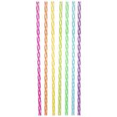 Multi-Color Diagonal Striped Straws