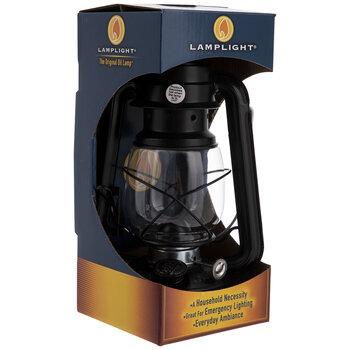 Black Farmer's Lantern Oil Lamp