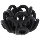 Black Flower Candle Holder