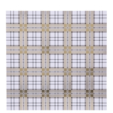 "Gold & Silver Foil Plaid Scrapbook Paper - 12"" x 12"""