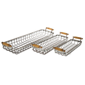 Galvanized Wire Basket Set