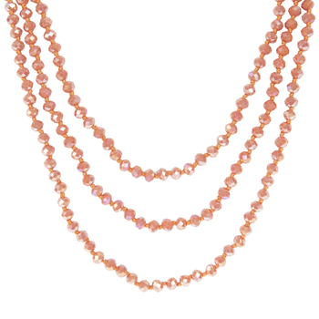 Blush AB Faceted Bead Knotted Necklace