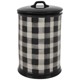 Black & White Buffalo Check Canister