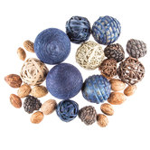 Blue & Natural Decorative Spheres