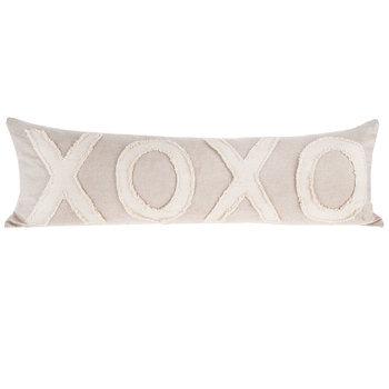 Natural XOXO Lumbar Pillow