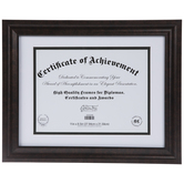 "Brushed Bronze Beveled Document Frame - 11"" x 8 1/2"""