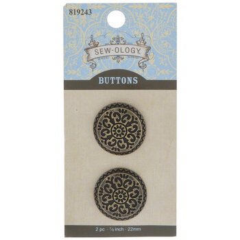 Ornate Round Shank Buttons
