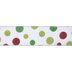 Red & Green Glitter Polka Dot Wired Edge Ribbon - 2 1/2